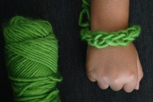 My Finger Knit Bracelet