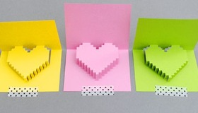 8-bit Pop Up Heart