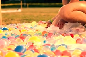 Worlds Largest Water Balloon Fight