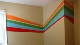 Striped Mural