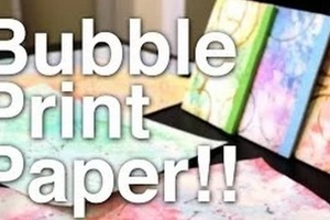 How to Make: Bubble Print Paper!!