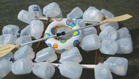 Plastic Milk Jug Raft