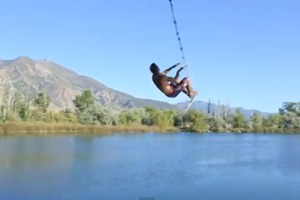 Rope swing party
