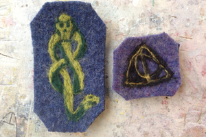 Needle Felting Dark Mark and Deathly Hallows