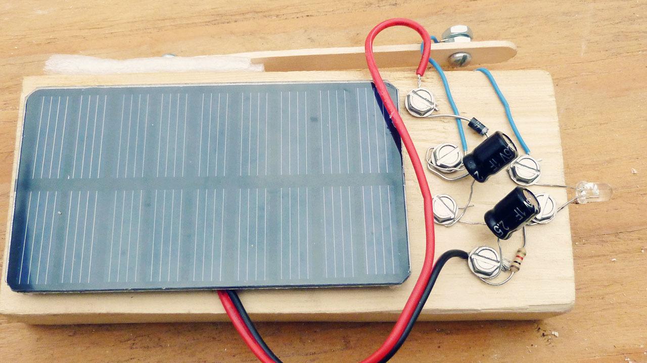 Make A Solar Powered Light Diy Circuit Using Flashlight Bulb Electronic Projects