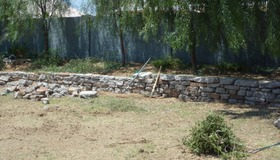 Urbanite Retaining Wall
