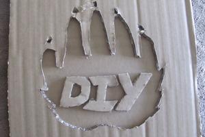 Cardboard DIY Logo