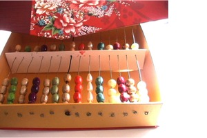 How to make an abacus with cardboard