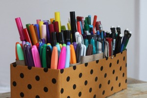 Paper Tube Pen Storage