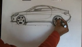 Draw Cars : Sports Car Sketch