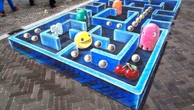 3-dimensional Chalk Art