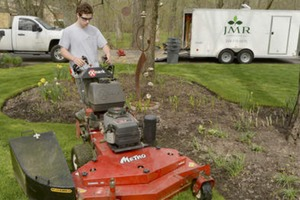 Teen grows mowing jobs into landscaping business