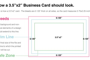 Business Card Bleed Lines