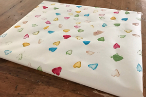 Potato Print Wrapping Paper
