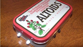 Solar Altoids Flashlight Experiment