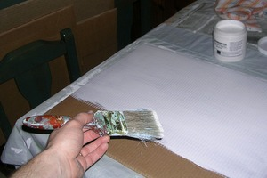 Prepare Cardboard with Gesso