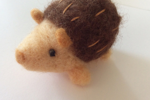 Needle felt hedgehog