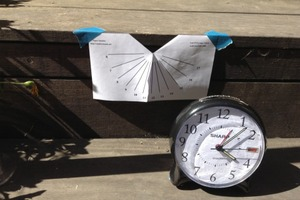 Attempt at vertical sundial