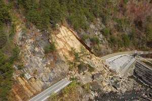 Rockslide in Tennessee
