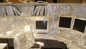 Foil Wrapped Office